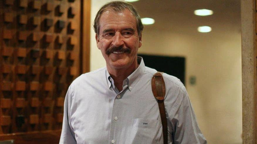 Former Mexican president Vicente Fox tells 'On the Record' why he believes Donald Trump is like Hitler, says US and Mexico cannot solve illegal immigration problem by building walls and says GOP 2016 front-runner shows no knowledge of history