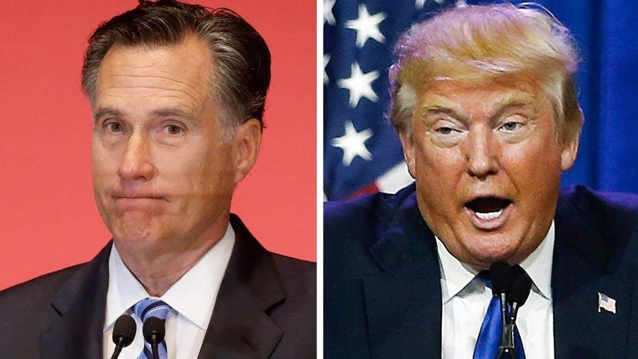 'Failed' Romney vs. 'phony' Trump tearing apart GOP