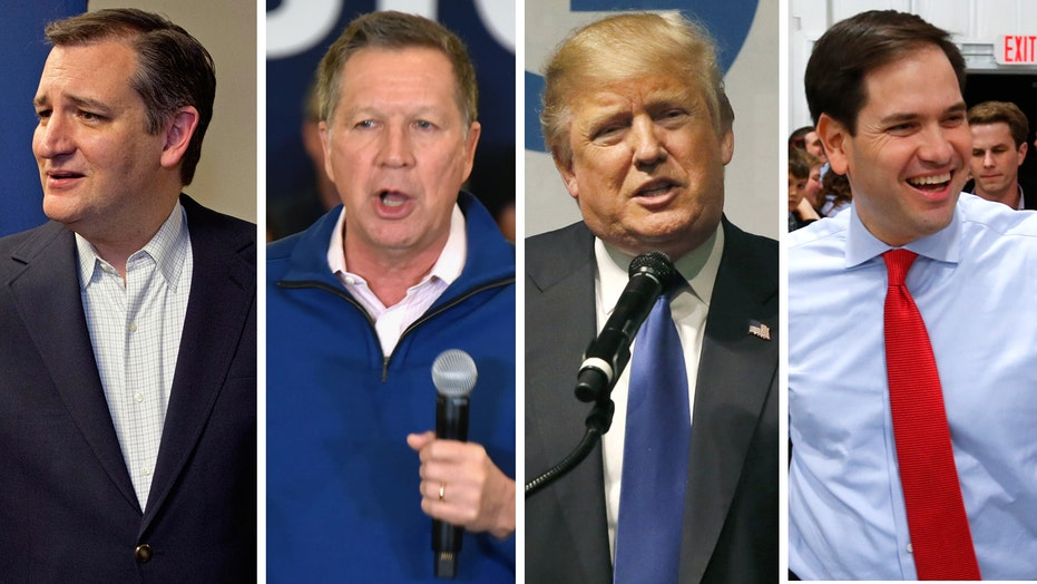 GOP candidates ramp up attacks in four state primaries