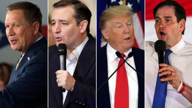 FNC Wednesday primetime lineup: Kasich, Cruz, Trump, Rubio