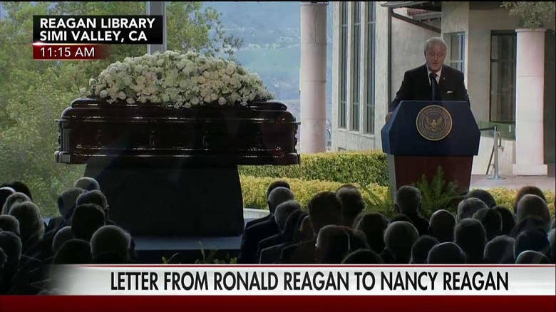 christmas love letter from ronald reagan to nancy read at her funeral