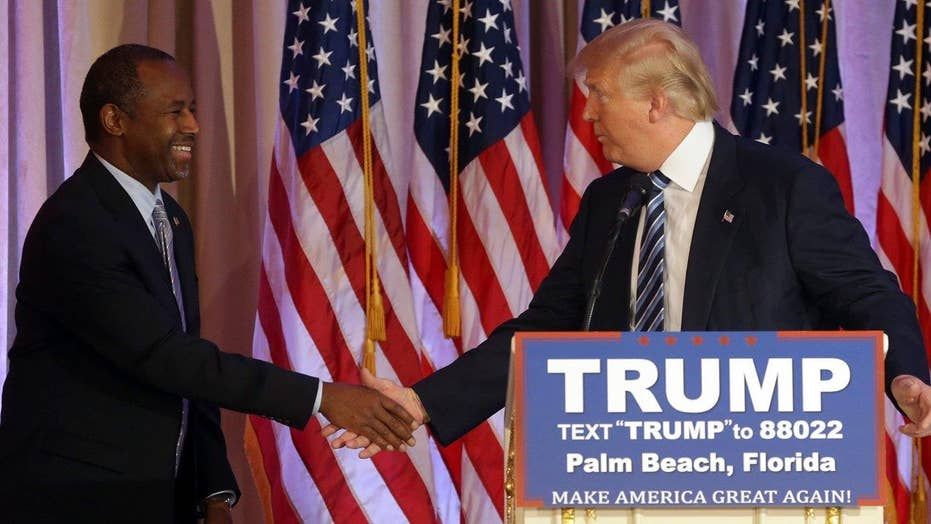 Carson endorses Trump: 'He cares deeply about America'