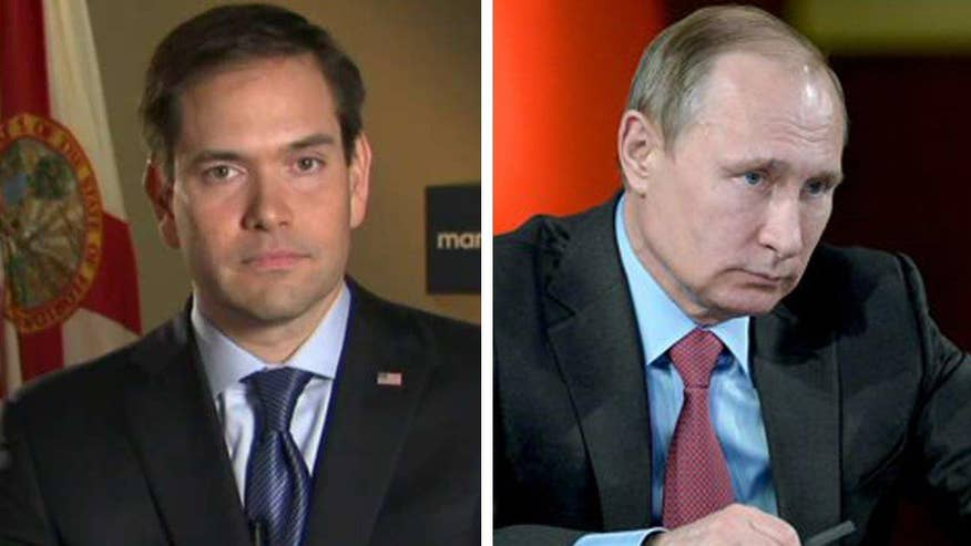 GOP presidential candidate Sen. Marco Rubio goes 'On the Record' on how he would handle Russian President Vladimir Putin ordering a partial pullout of Russian military from Syria