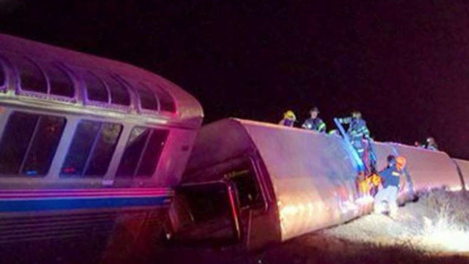 Cross-country Amtrak train derails in southwestern Kansas