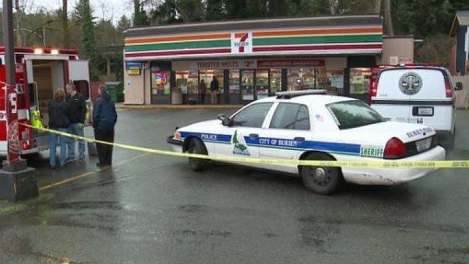 Customer shoots and kills ax-wielding attacker at 7-Eleven