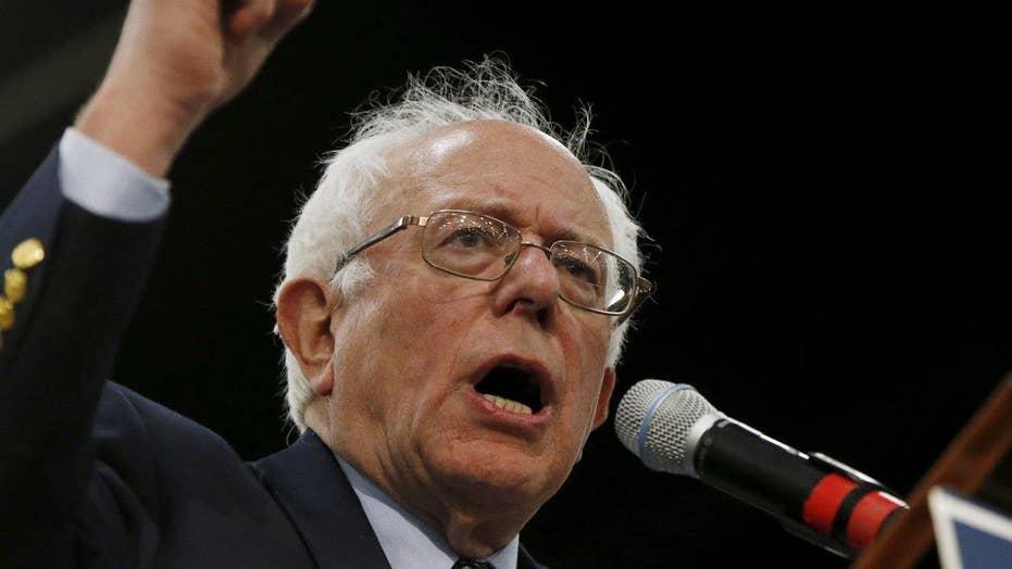 Sanders takes on Clinton, Trump