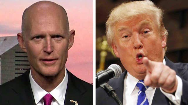 Fla. governor hops on the Trump train
