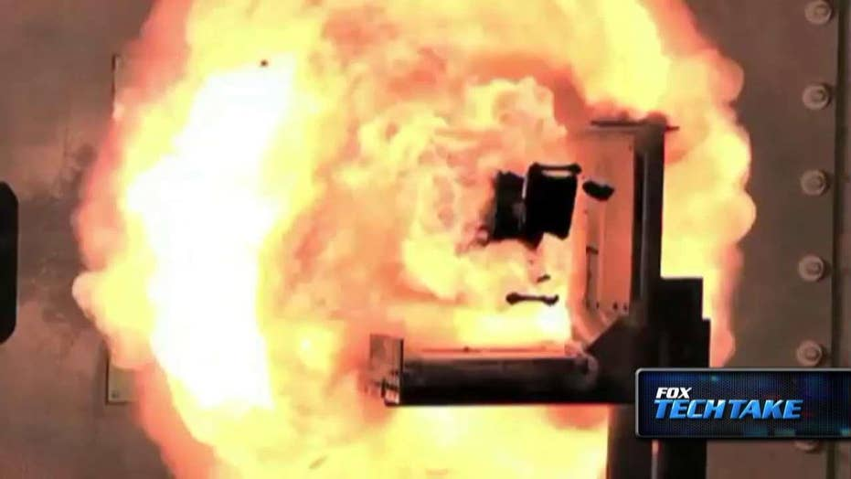 Futuristic military railgun 'bullets' could travel at Mach 6