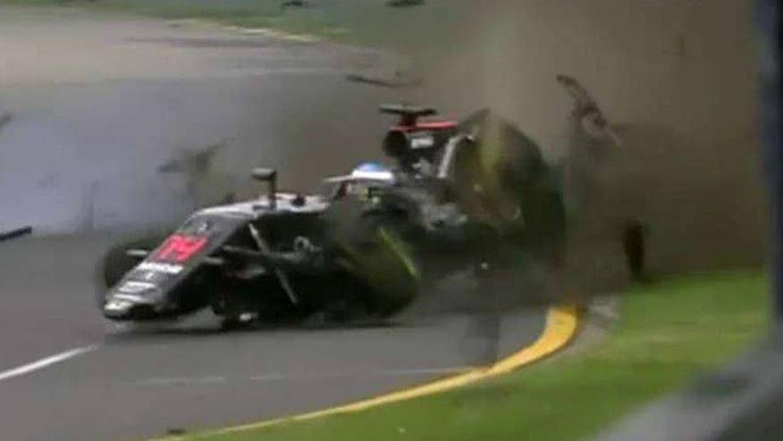 F1 driver goes airborne