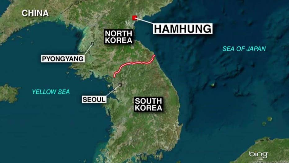 North Korea fires 5 short-range missiles into sea