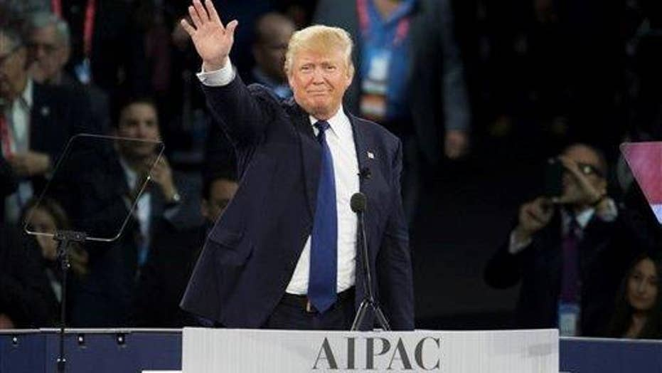 Trump shows presidential side at AIPAC