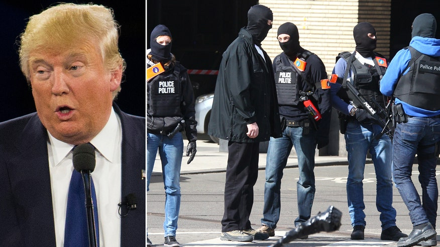 Republican presidential frontrunner renews call to 'close up our borders... until we figure out what is going on' following deadly attacks in Brussels