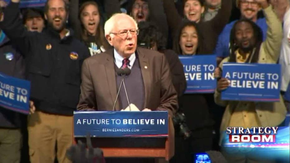 Sanders struggling to catch up to Clinton