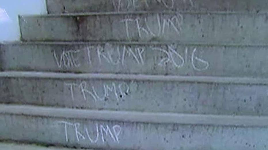Students offered 'emergency' counseling for Trump chalkings