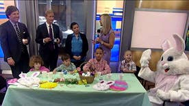 Kids kickoff celebrations with the Easter Bunny