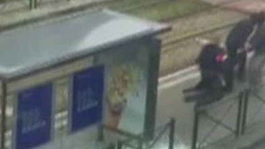 Video shows police shooting terror suspect in Brussels