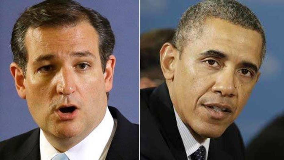 Obama blasts Cruz for call to monitor Muslim neighborhoods
