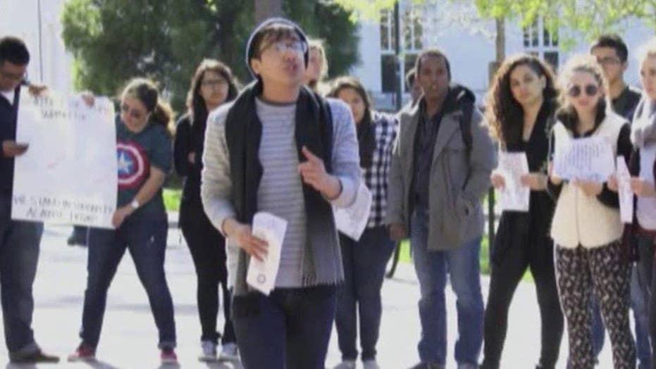 'Trump 2016' chalk markings cause turmoil at Emory