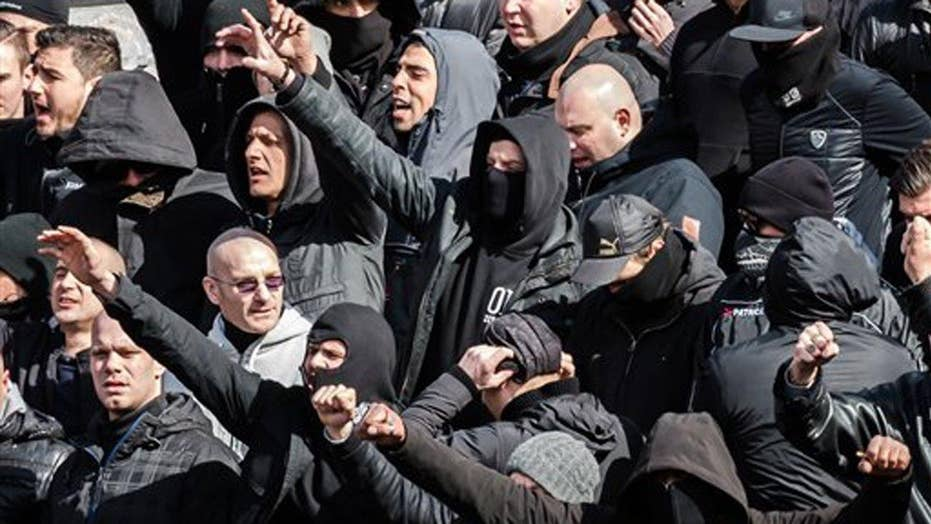 Protest turns violent at Brussels memorial