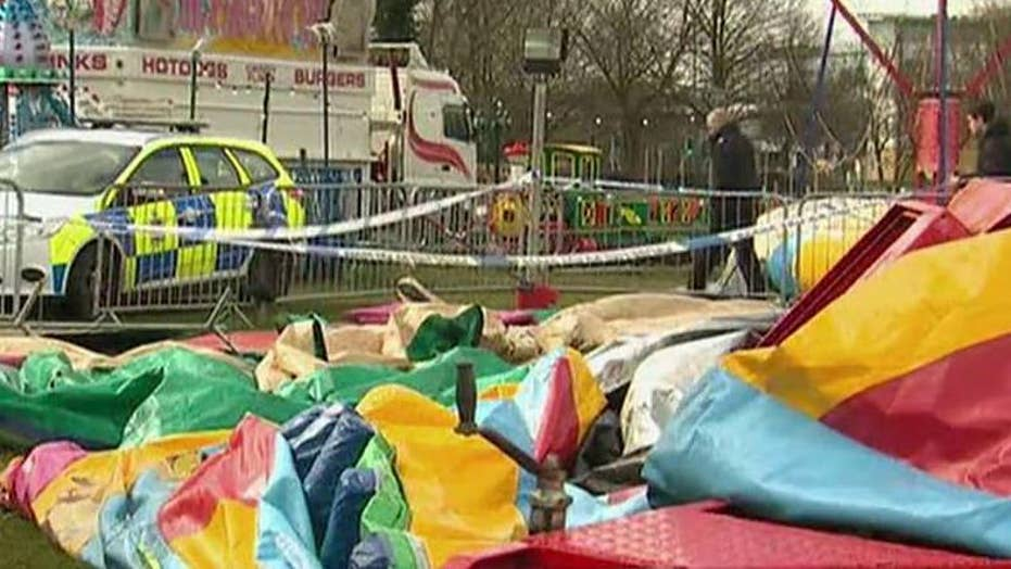 7-year-old girl killed in bounce house accident in the UK