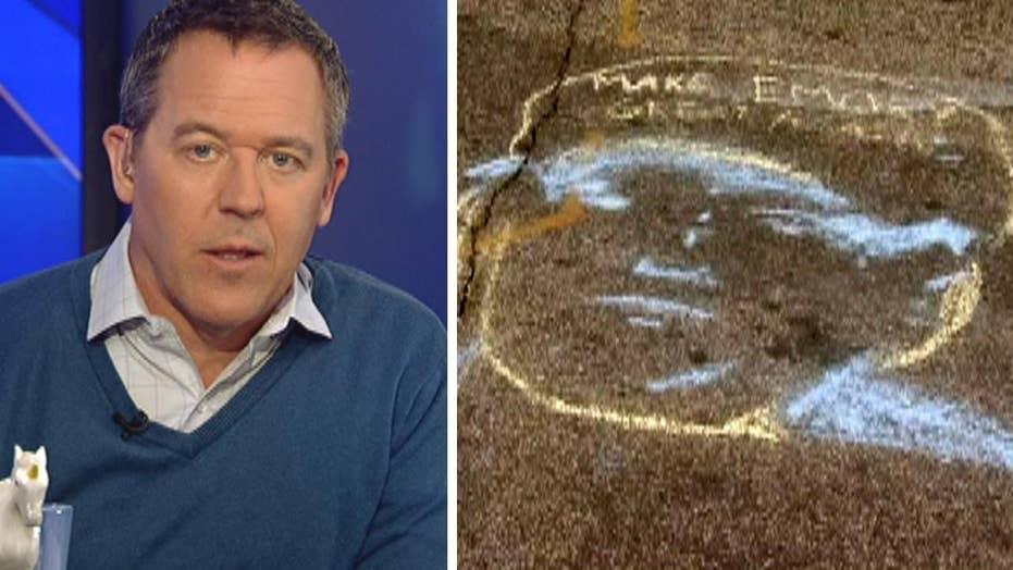 Gutfeld: Trump chalk hysteria exposes new lie of campus left