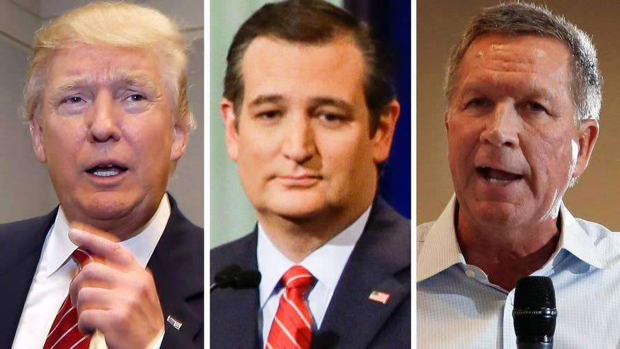 GOP candidates back away from pledge to support eventually nominee