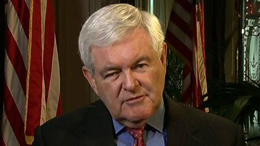 Newt Gingrich reacts on 'Hannity' to latest Fox News polls and Trump's abortion remarks