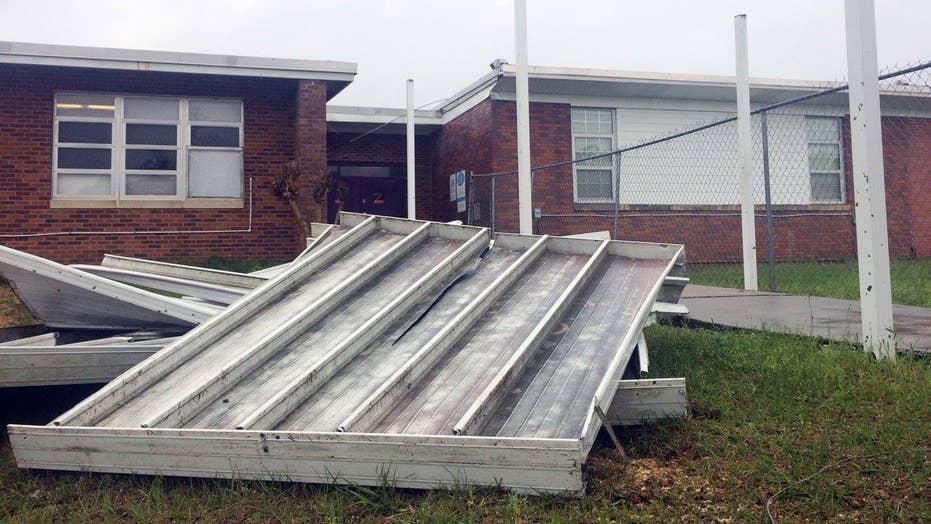 Tornadoes tear through Deep South states
