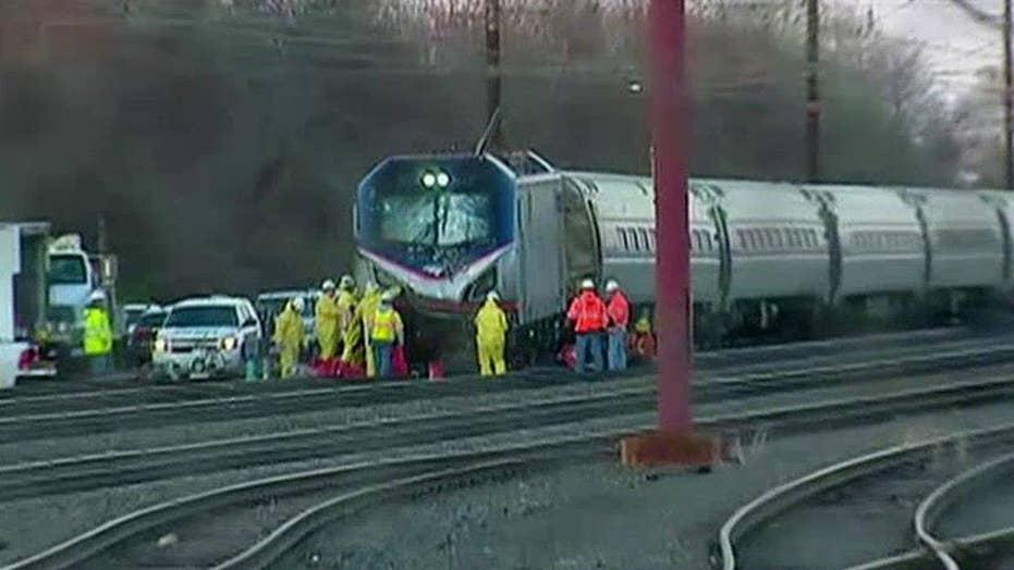 Investigators on scene of Amtrak train derailment