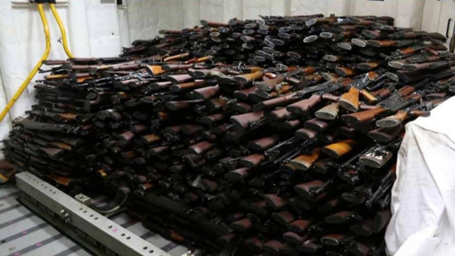 US seizes thousands of Iranian weapons, including grenade launchers