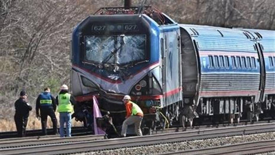 NTSB investigating derailed Amtrak train