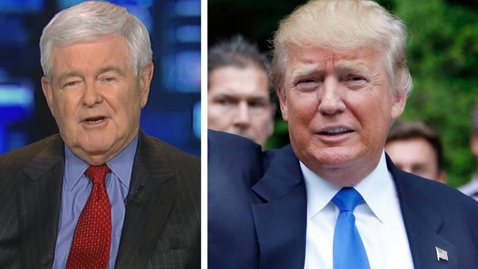 Newt Gingrich calls on Trump to 'improve his game'