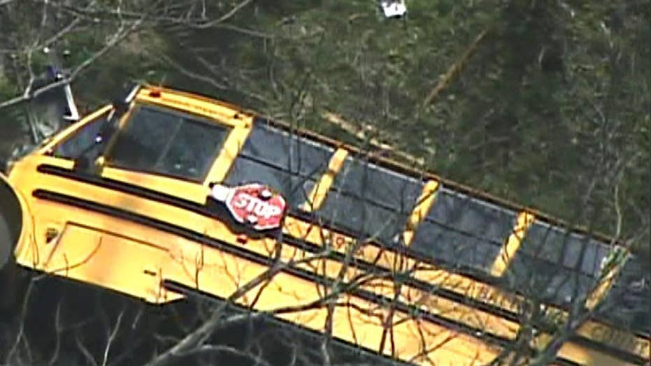 Police: Students injured in school bus crash in Maryland