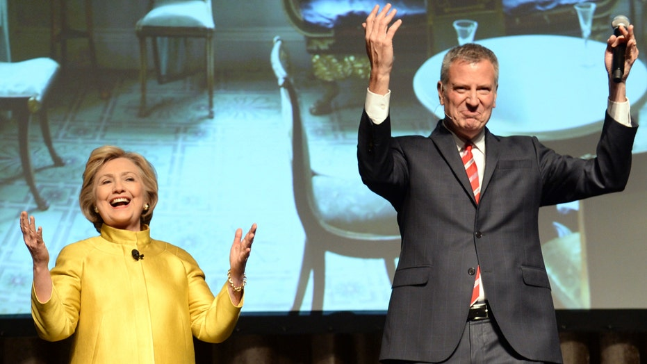Clinton, De Blasio criticized for racially-charged joke