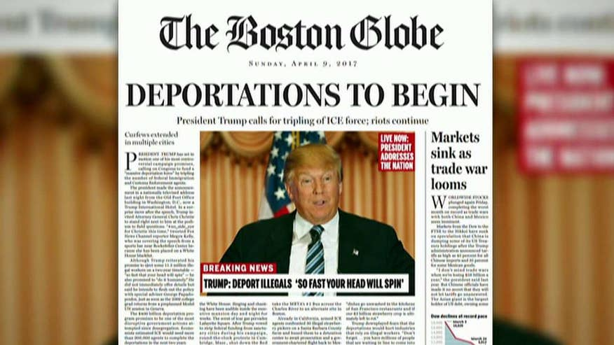 Paper releases fake front page of headlines from the future