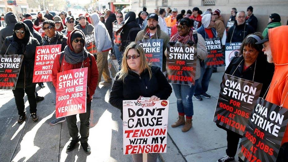 39,000 union workers on strike at Verizon on the East Coast
