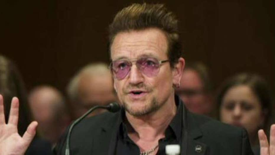Bono tells Senate to use comedy to fight ISIS