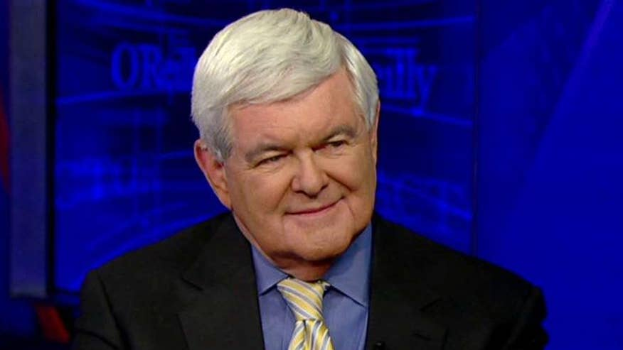 Newt Gingrich weighs in on the race for the GOP nomination on 'The O'Reilly Factor'
