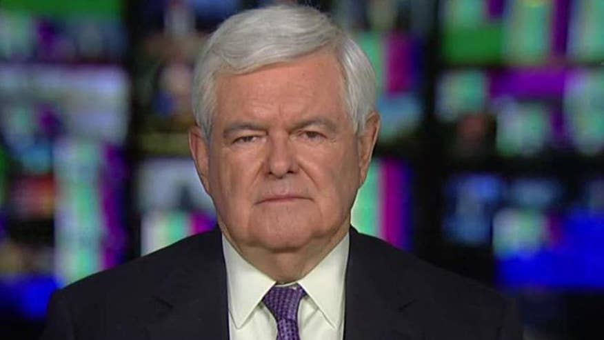 Newt Gingrich looks ahead to the upcoming primaries