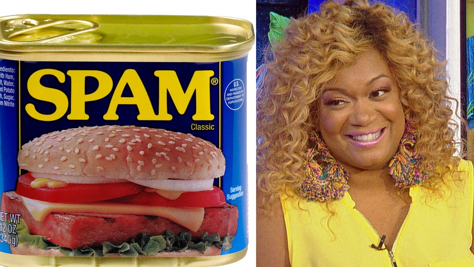 Sunny Anderson salutes the troops with Spam