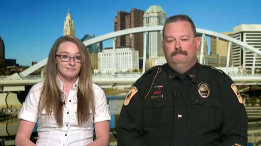 Cops meet the young woman face-to-face for the first time on 'Fox & Friends'