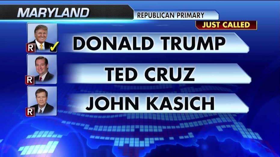 Trump wins Maryland, Pennsylvania and Connecticut