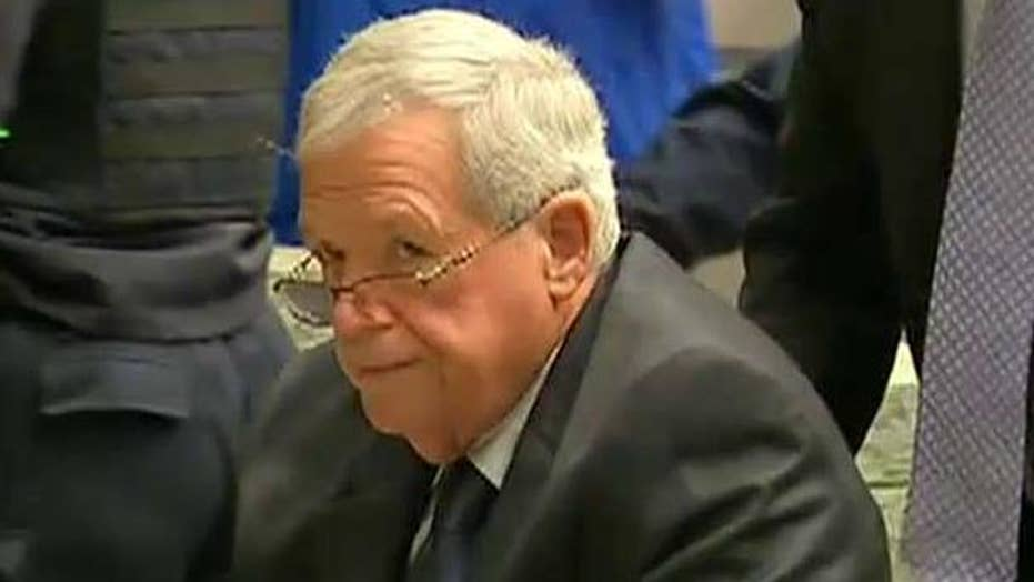 Awaiting sentencing of former House Speaker Dennis Hastert