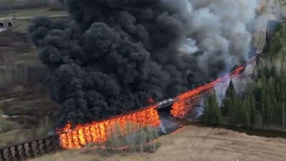 Fire bug? Suspicious blaze destroys rail trestle bridge