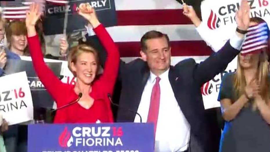 Ted Cruz names Carly Fiorina as his running mate choice