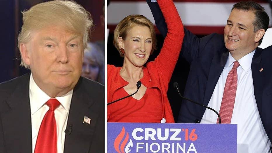 Trump: Cruz picking Fiorina as running mate 'waste of time'