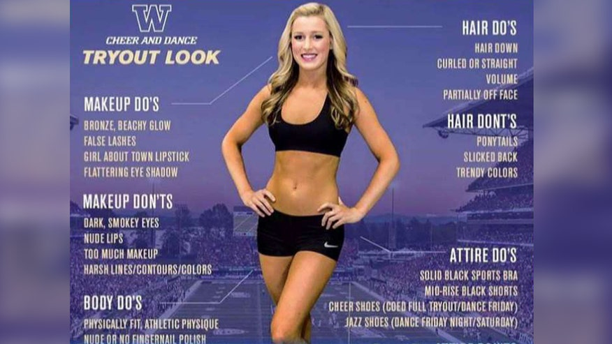 Cheerleading team removed poster after online criticism