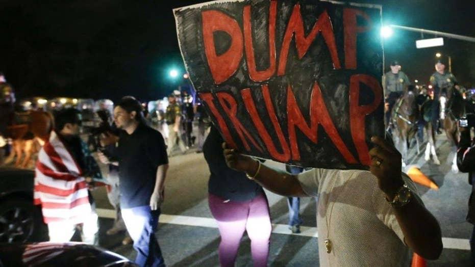 Anti-Trump rally in California turns violent