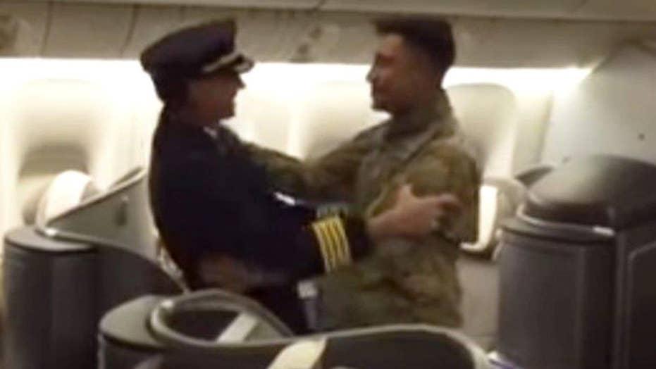 Pilot surprises soldier son after deployment, flies him home