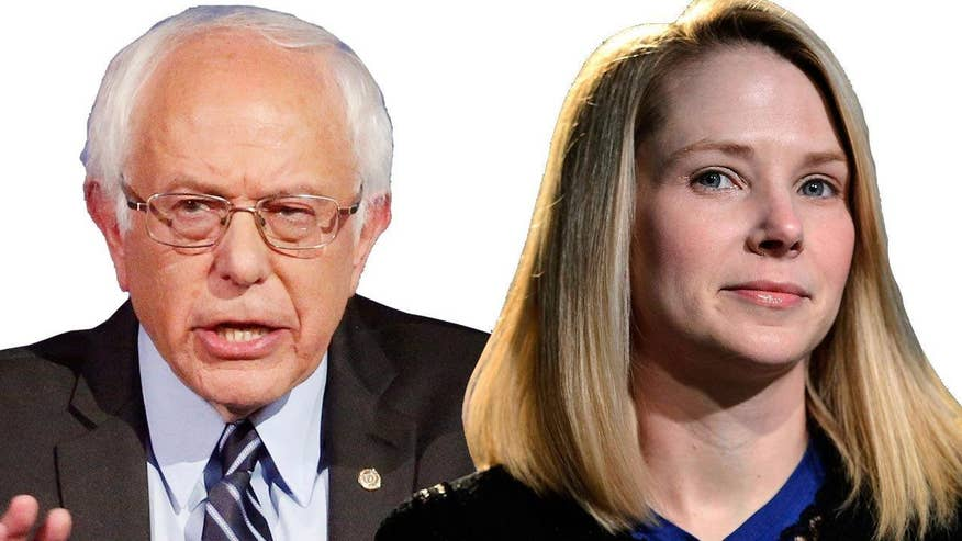 Greta's 'Off the Record' comment to 'On the Record' viewers: Marissa Mayer of Yahoo! is about to get fired and get a $55 million golden parachute. But what about the CEOS who work hard and give back to their communities, Sen. Sanders?